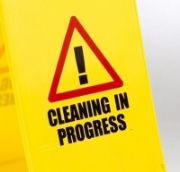 'Cleaning in Progress' sign (PS124CLEAN)